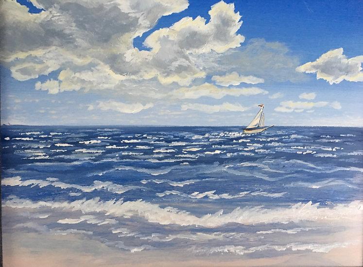 High Wind at Englewood Beach (Print)