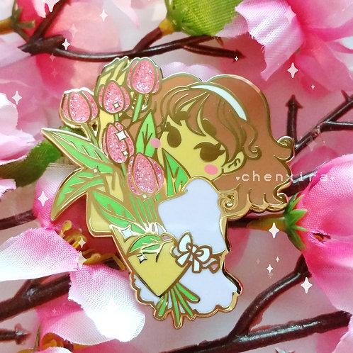 Shy Tulip Girl 🌷 Pin