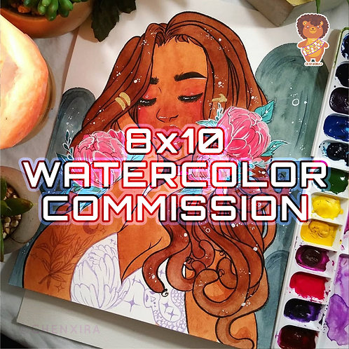 8 x 10 ♥ Watercolor Commission