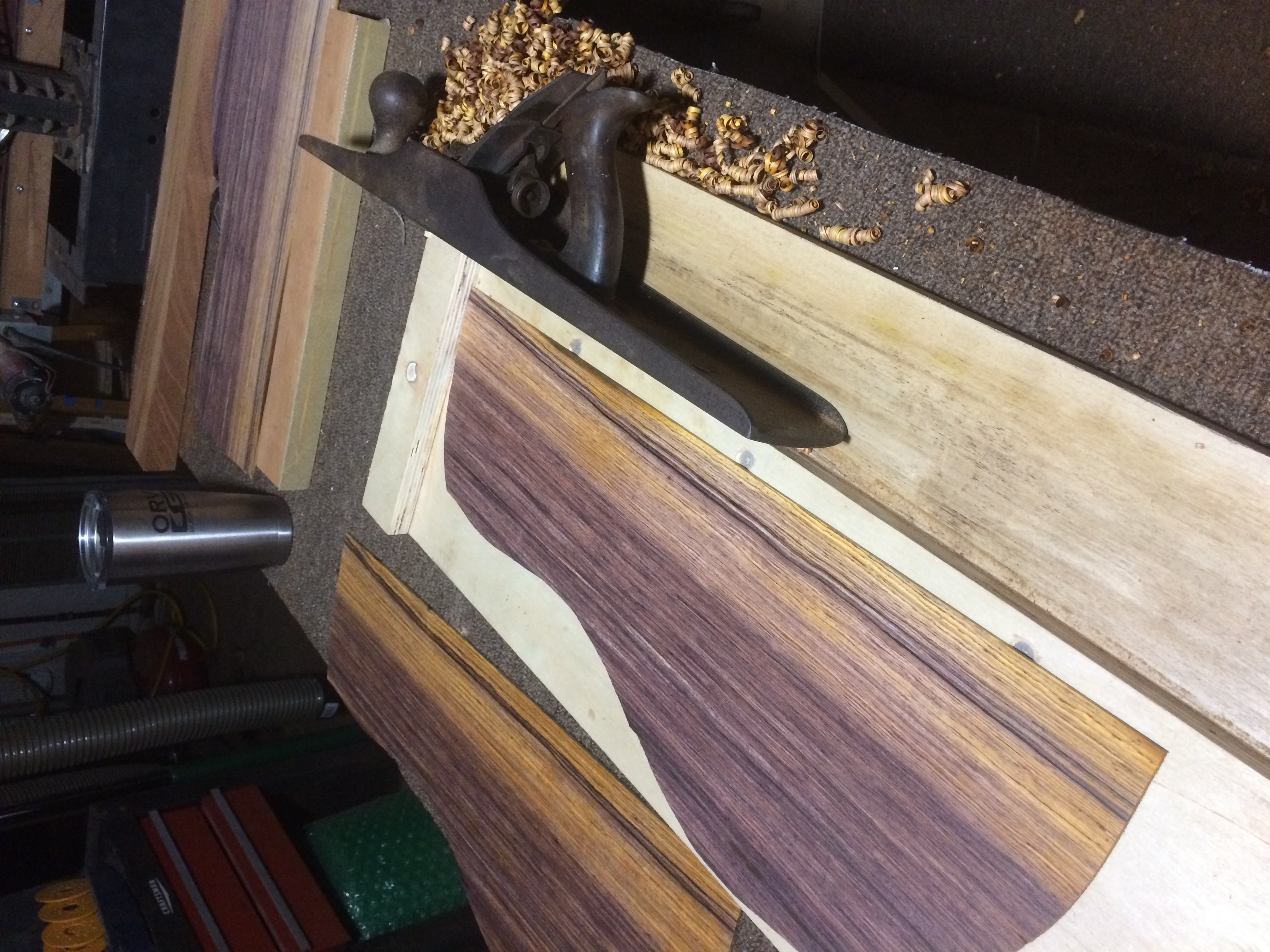 Joining Cocobolo Back Plates