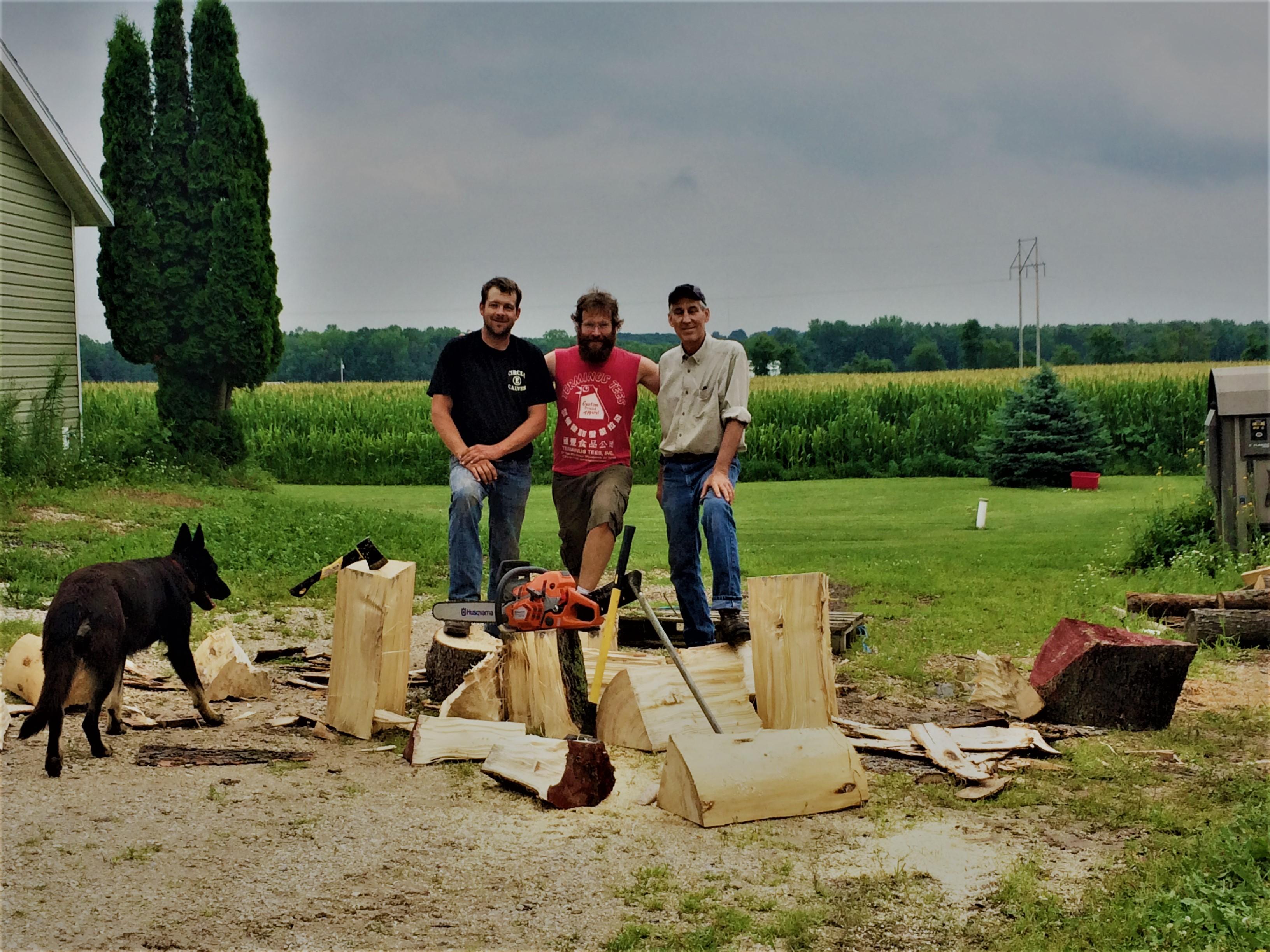 Eisenman Men Harvesting Spruce