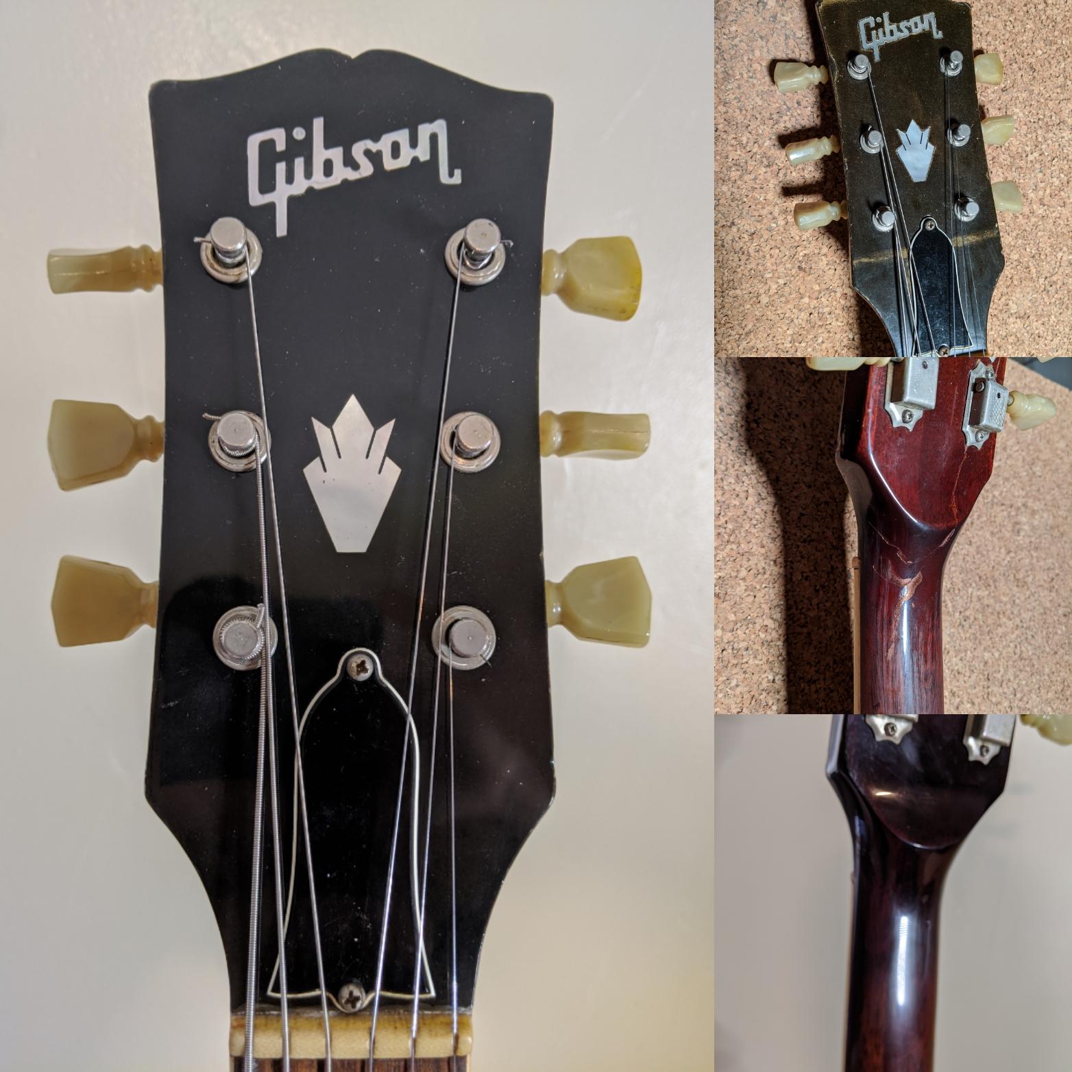 Early 70's Gibson SG Headstock Break Repair