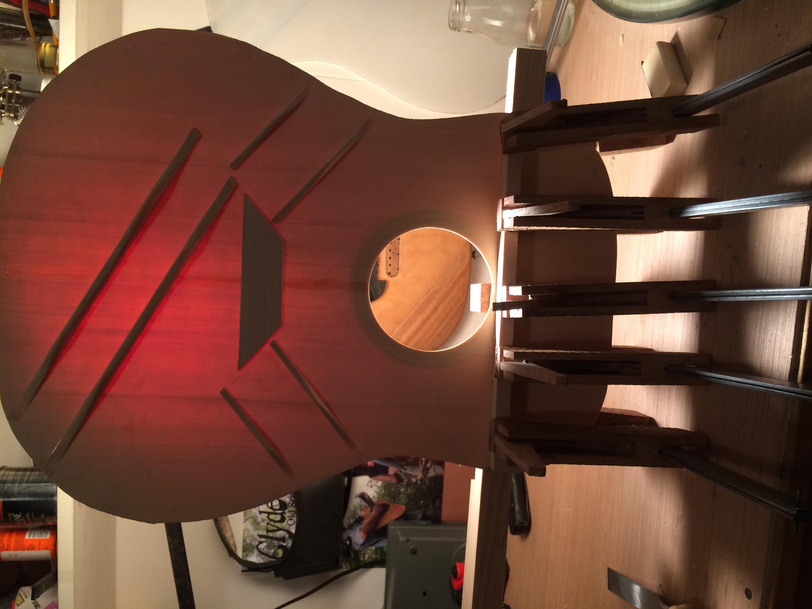 Tucked Braces on a Sitka Soundboard