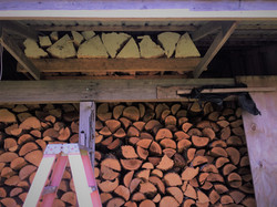 Spruce Drying in the Woodshed