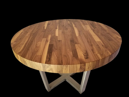 This Beautiful Hand Built Round Table Is Made From High Quality Walnut Wood  And Steel. The Steel Has A Brushed Finish As Pictured. Other Metal Color  Options ...