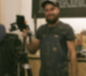 Daniel cooper setting up camera