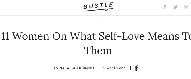 Bustle.com feat: Octavia Yearwood