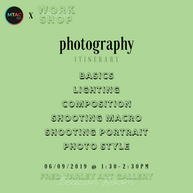 Workshop Series Photography Itinerary (1