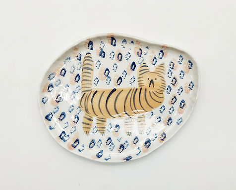 Piatto ovale tigre
