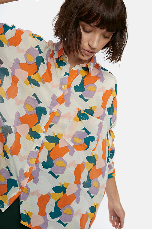 Camicia oversize multicolore