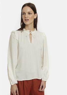Camicia bianca con collo vittoriano