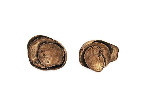 Orecchini strati bronzo