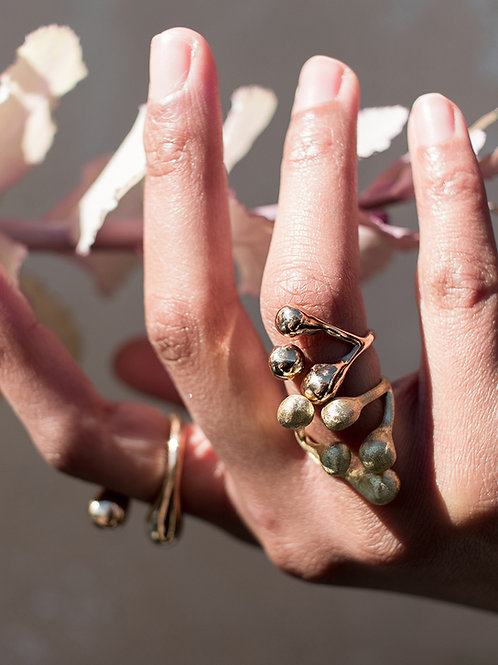 Anello bronzo regolabile