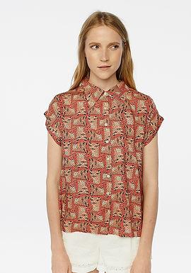 Camicia fantasia con leopardi