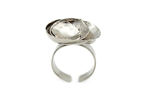Anello impronte argento