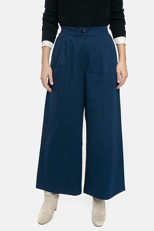 Pantaloni scampanati blu