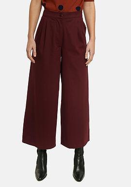 Pantaloni scampanati bordeaux