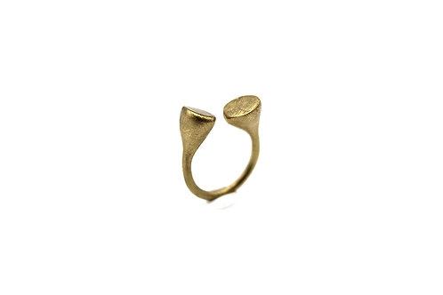 Anello regolabile in ottone graffiato - Nokike