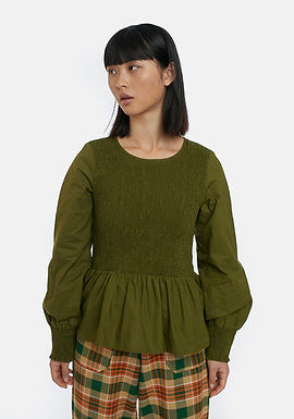 Maglia maniche lunghe verde