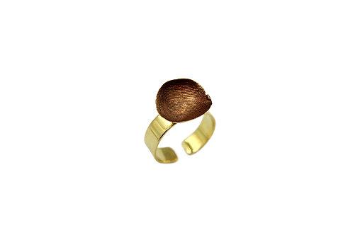 Anello regolabile bicolore