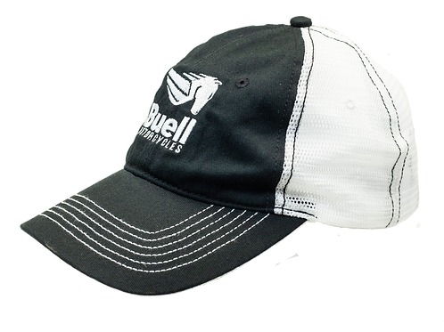 Black & White Mesh Back Cap