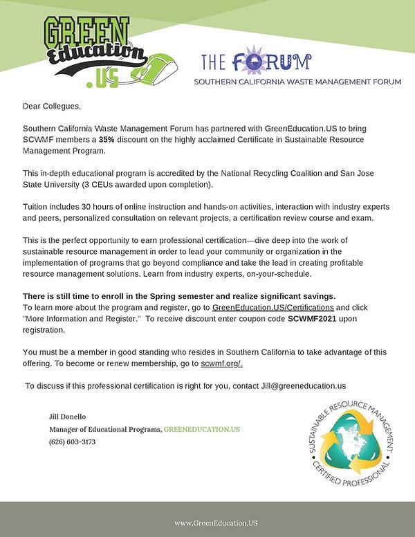 Invitation to CSRMP to SCWMF Members (1)