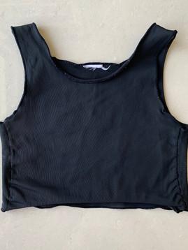 Black half, 32cm, mesh