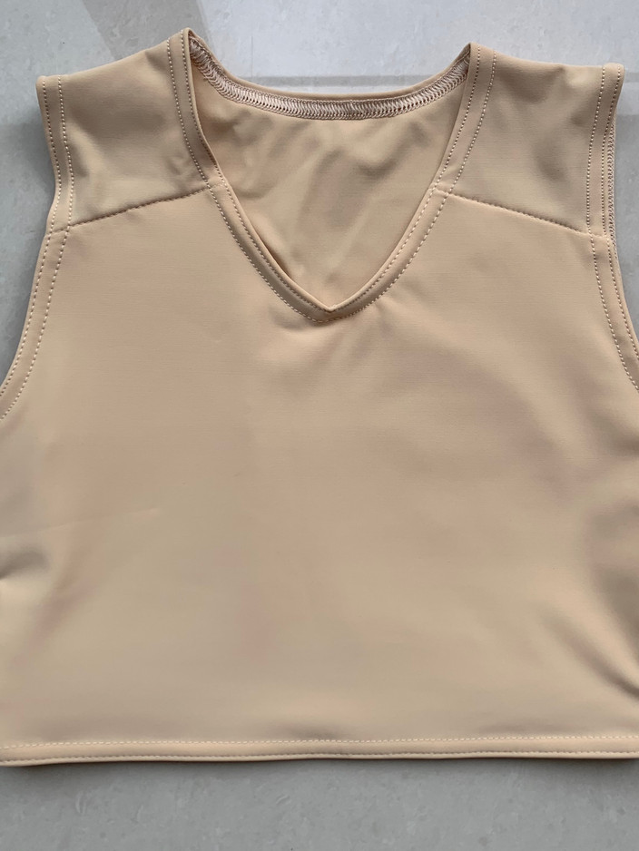 Light tan half, 34cm, lycra