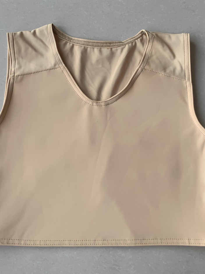 Light tan half, 38cm, lycra
