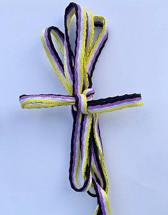 Nonbinary Pride Shoelaces