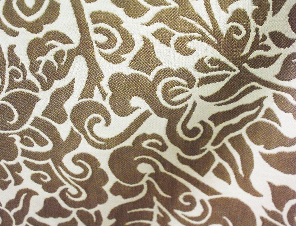 Cream and Stone- Off White and Brown- Floral
