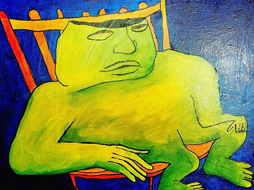 """Untitled, 16""""x 20"""" painting on canvas"""