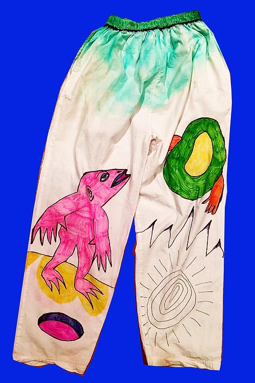 Pants, hand-drawn