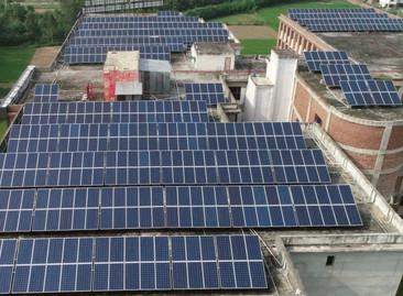 Solar project of Adesh Medical College, Ambala