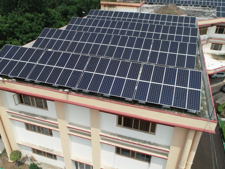 480KW Solar project of Devi Dyal Hi-tech Educational Academy, Punchkula #solarpowerplant