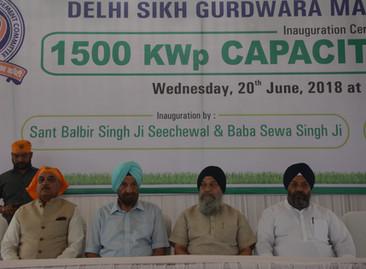 1500 KWp capacity Solar energy power plant in Bangla Sahibh Gururdwara, New Delhi