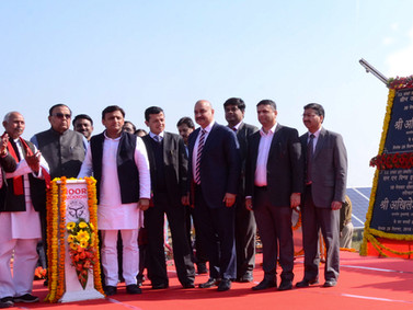 CM, Akhilesh Yadav inaugurated SAEL 30 MW Solar Power Plant in Mahoba, UP.