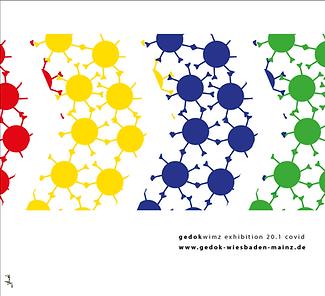 toutis kreiert das Logo und das Konzept für die online Galerie der Gedok Wiesbaden Mainz. Die online Ausstellung heißt: Covid 20.1
