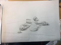 Zeichnung Stilleben Bleistift