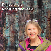 Vera Barsich-Wild, Malerin, vor ihrem Bild