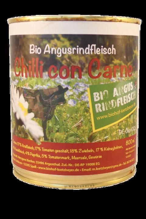 Bio Angusrindfleisch Chilli con Carne