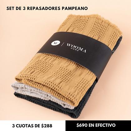 Pack x3 Repasadores Pampeano 32x48cm