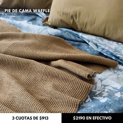 Manta Waffle Avellana