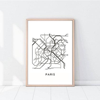 Lámina Paris Subway
