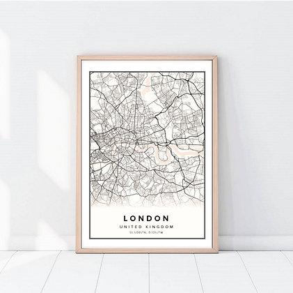 Lámina London Map