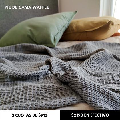 Manta Waffle Gris Elefante