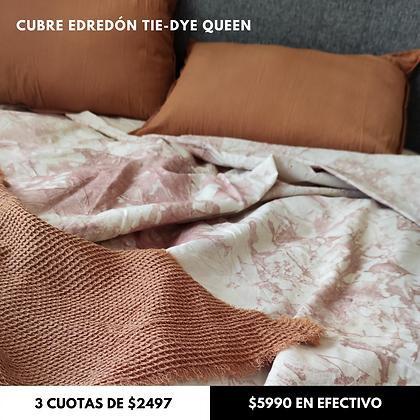 Cubre Edredón Tie-Dye Batik Queen Rosa Viejo