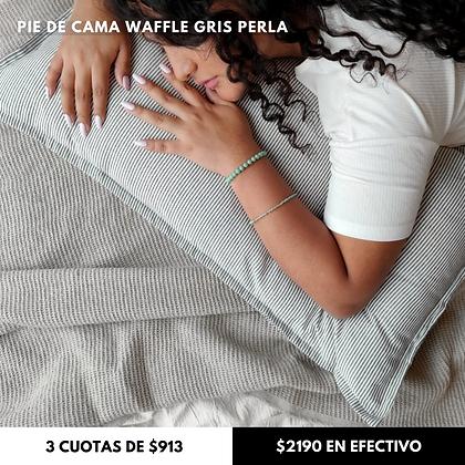 Manta Waffle Gris Perla