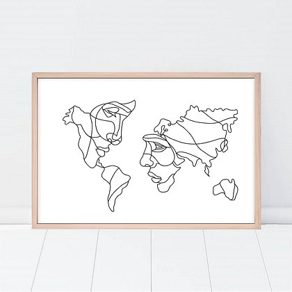 Lámina World Love
