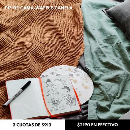 Manta Waffle Canela